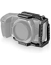 (Nowa wersja) SMALLRIG BMPCC 4K / 6K Half Cage kompatybilny z Blackmagic Pocket Cinema Camera 4K / 6K, Half Cage z mechanizmem Anti-twist i wbudowanymi szynami NATO - CVB2254B
