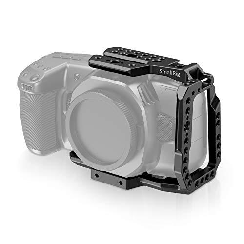 SmallRig BMPCC 4K/6K Half Cage Compatible with Blackmagic Pocket Cinema Camera 4K/6K, Half Cage with Anti-Twist Mechanism and Built-in NATO Rails CVB2254B