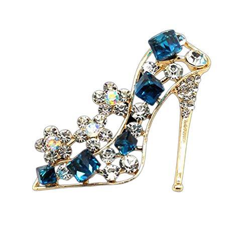 Broche elegante de cristal brillante de Beeria con forma de zapatos de...