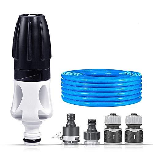 Mini High Pressure Car Wash Water Gun Met 10M Slang Van De Tuin Nozzle Set Gereedschap Verstelbare Watering Flowers Water Gun - Zwart (Color : 10M wipe set)