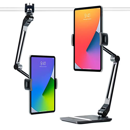 Twelve South HoverBar Duo for iPad / iPad Pro / Tablets |  Adjustable arm with heavy base and surface mount for iPad stand