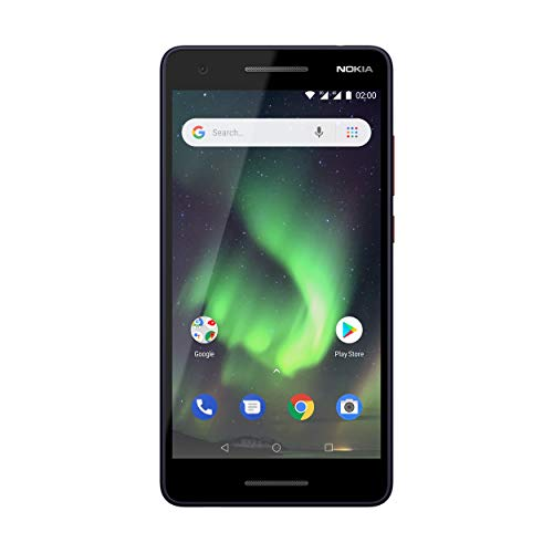 Nokia 2.1 Smartphone (13,97 cm (5,5 Zoll) HD Display, 8GB interner Speicher, 1GB RAM, 8MP Kamera, robustes Gehäuse, Dual Sim) blau/kupfer, version 2018
