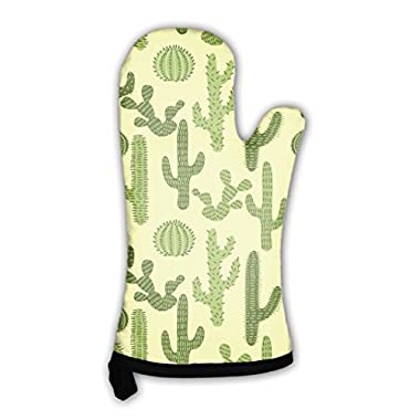 Gear New Oven Mitt, Pattern With Cactus 1, GN13379