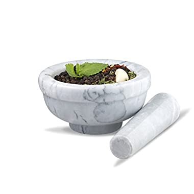 Sagler mortar and pestle set Marble Grey 4.5  diameter