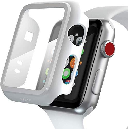 PZOZ - Funda para Apple Watch Series 3/Series 2, iWatch, Muy Resistente, con Protector de Pantalla Pet, protección Ultrafina en los Bordes, Accesorio Adecuado para Apple Smartwatch