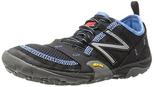 New Balance Women's WT10v1 Trail Running Shoe, Black/Blue, 8 D US