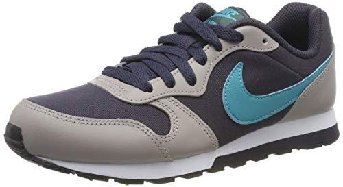 Nike Herren MD Runner 2 (GS) Laufschuhe, Grau (Gridiron/Teal Nebula/Pumice/Faded Spruce 017), 39 EU