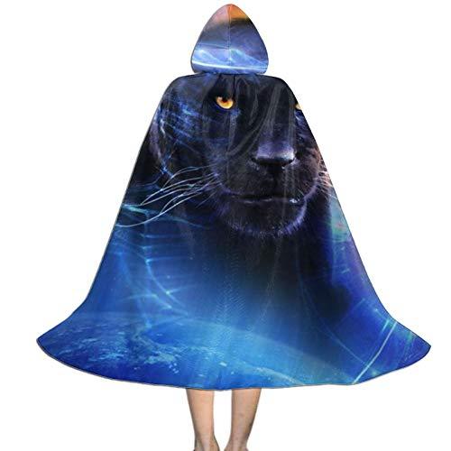 Rtbb - Capa con capucha para nios, diseo de leopardo, diseo de leopardo, fiesta de Halloween, disfraces para nios y nias (3 tamaos)