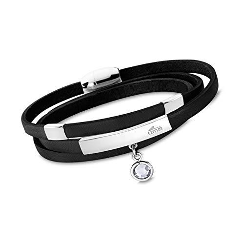 LOTUS Style Armband schwarz LS1961-2/3 Damen Schmuck Leder JLS1961-2-3