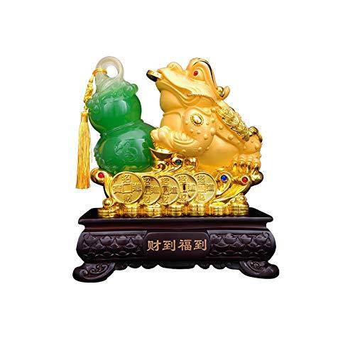 NYKK Estatuas de Feng Shui Feng Shui Riqueza Dinero Sapo Rana Animal Tallado Encanto tótem Dinero Rana Afortunado Dinero Sapo Decoraciones atrayendo Riqueza Estatua de Riqueza