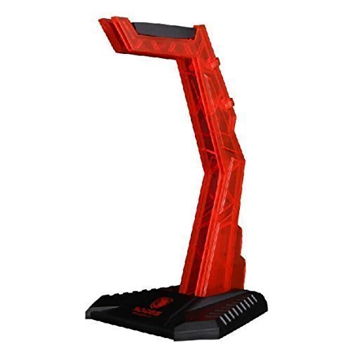 SADES E-Sports Gaming Headphone Cradle,eTopxizu S-xlyz Acrylic Headset Bracket Stand Holder,Suitable for AKG/Sony/Shure/Sennheiser/Monster Beats/Ultimate Ears/Boss/Logitech/Gaming Headset,Red(Stand
