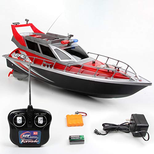 Haunen Ferngesteuertes Boot, 1/20 4CH RC Polizeiboot 2,4GHz High Speed RC Boote Racing Boot für Erwachsene Jungen Mädchen Geschenk