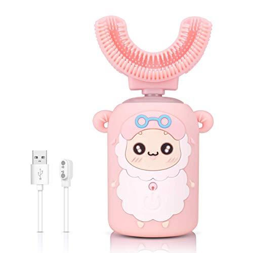 Cepillo de dientes eléctrico automático para niños,cepillo automático ultrasónico en forma de...