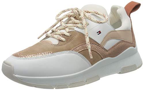 Tommy Hilfiger Damen Sporty Chunky Glitter Sneaker, Beige (Sandrift Abr), 40 EU