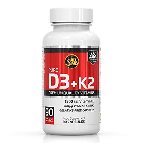 All Stars Vitamin D3+K2 (90 caps) 50 g 90 Unidades