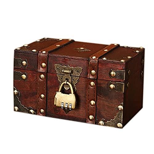 HYMD Joyero Caja de joyería de Almacenamiento de Madera con Cerradura. (Size : 18 x 11 x 10 cm)