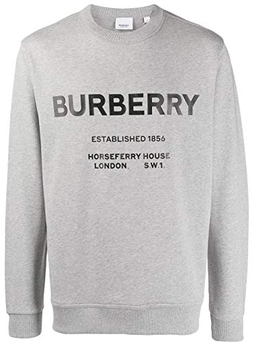BURBERRY Luxury Fashion Herren 8017229 Grau Baumwolle Sweatshirt | Herbst Winter 19