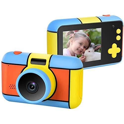 xxz Kinder Selfie Kamera, kompakter 1080p HD Camcorder mit 2,4 Zoll LCD Blue Screen 32 GB SD-Karte USB wiederaufladbares bestes Spielzeug, für 3-9 Jahre altes Kind