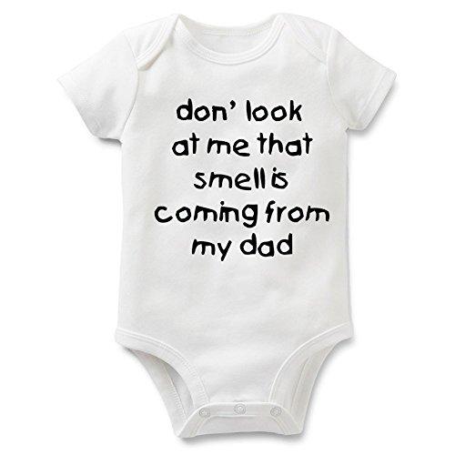 Rocksir Funny Slogan Super Soft Cotton Comfy Baby Short Sleeve Bodysuit (dad1, 24m)