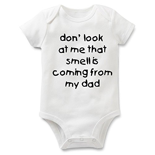 Funny Slogan Super Soft Cotton Baby Onesies Comfy Short Sleeve Bodysuit(9M dad1)