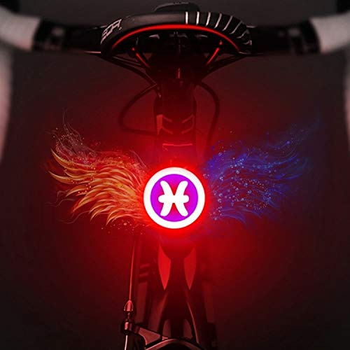 JSANSUI Rode achterlicht USB Opladen Rood Blauw Kleur Rijverlichting Achterlamp Veiligheid Waarschuwing Licht, voor Road fiets of mountainbike