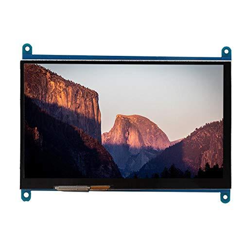 Tosuny Pantalla táctil Minitor, Monitor portátil LCD de 7 Pulgadas HDMI 1024x600 Pantalla de visualización Ultra HD Monitor Capacitivo para Juegos para Raspberry Pi