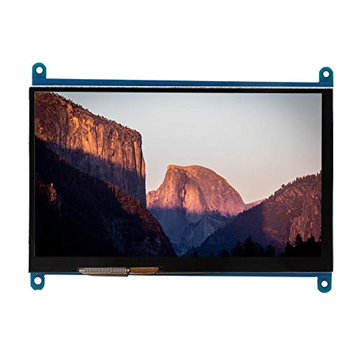 Nannday Ultra HD Screen, 1024x600 6.5 X 4.9In Capacitive Touch Screen, 7-Inch 164.9 X 124.27Mm for Raspberry Pi PC