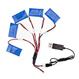 XIXIML 5pcs syma x5 rc lipo Battery 3.7v 850mah 902540 and USB x5c x5sw x5sc cx30 cx-30 w Drone Helicopter Airplane Parts