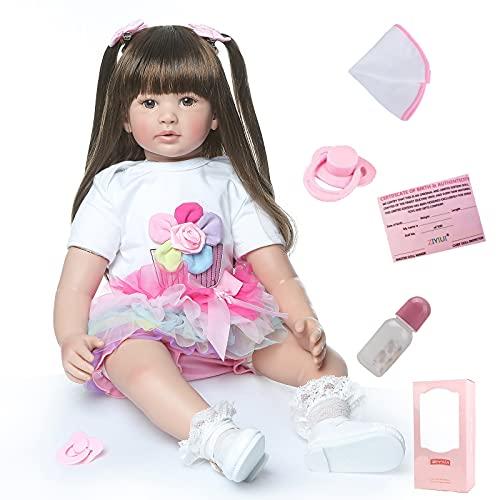 ZIYIUI Simulazione 24 Pollici 60 Cm Bambole Reborn Morbido Silicone Vinile Bambola Reborn Femmine Reborn Baby Dolls Bambino Bambola Ragazza Ragazzo Regalo