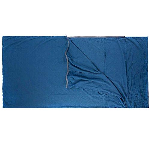 Black Temptation Portable 100% Coton Camping randonnée pédestre Unique Sac de Couchage Liner-Blue