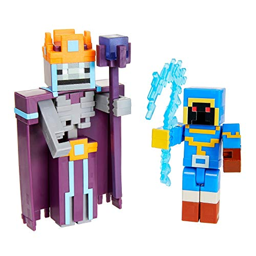 Minecraft GVL30 - Dungeons 2er-Pack mit ca. 8cm großen Stax und Skeleton Necormancer Figuren, ab 6 Jahren