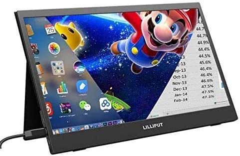 Lilliput Thin Portable LCD HD Monitor UMTC-1400 14 USB Type C Hdmi for Laptop,Phone,Xbox,Switch and Ps4 Portable LCD Gaming Monitor