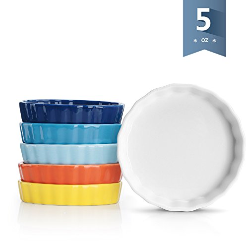 Sweese Porcelain Mini Fluted Tart Pans, Set of 6