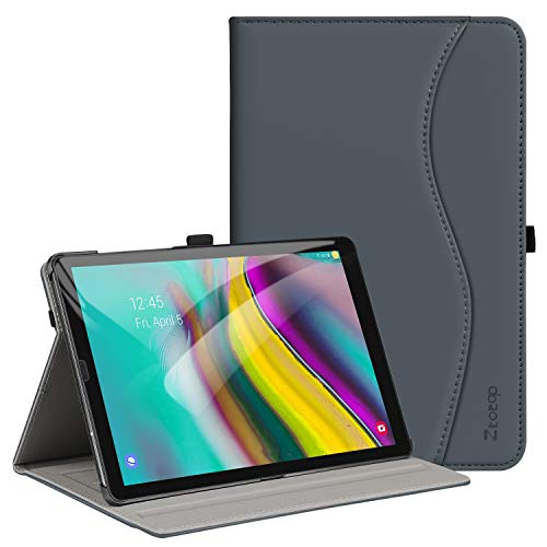 ZtotopCase Case for Samsung Galaxy Tab S5e 10.5 Inch 2019 T720/ T725,Premium Leather Business Stand Cover Tablet, Auto Wake/Sleep Document Card Slots,for Galaxy Tab S5e 10.5 Inch 2019,Darkgrey