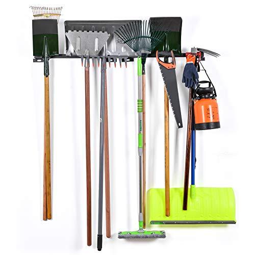Tool Racks For Garage Walls- Wall Holders For Tools - Wall Mount Tool Organizer- Wall Mount Tools Home & Garage Storage System - Steel Gear Hanger