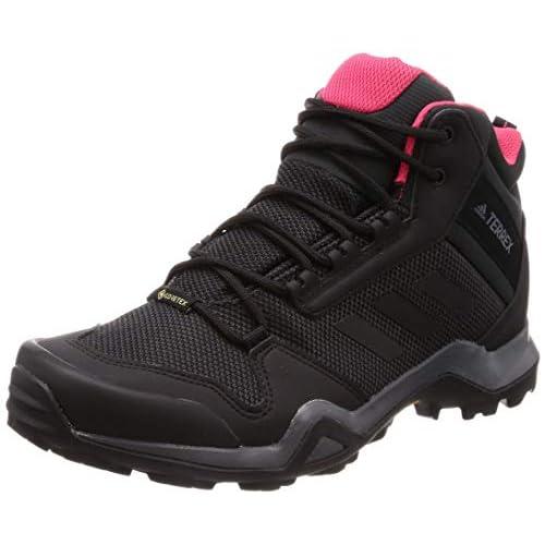 adidas Terrex Ax3 Mid GTX W, Stivali da Escursionismo Alti Donna, Grigio (Carbon/Core Black/Active Pink 0), 40 EU