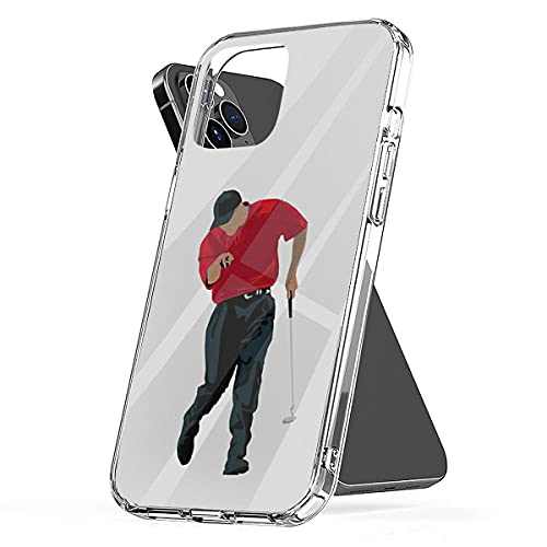 Phone Case Compatible with iPhone Tiger Shock Woods Waterproof Finger Scratch Point Accessories Best Sunday Red Golfer 2000 PGA Championship Golf Gift 6 7 8 Plus Se 2020 X Xr 11 Pro Max 12 Mini