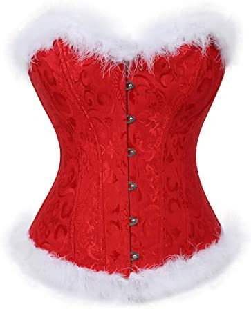 Sexy Santa Lingerie for Women Plus Size Corset Bustier Lingerie Red Corsets Naughty Christmas product image