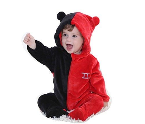 OHmais Bébé Fille garçon Unisexe Grenouillère Costume Deguisement Combinaison Pyjamas Hiver Gémeaux