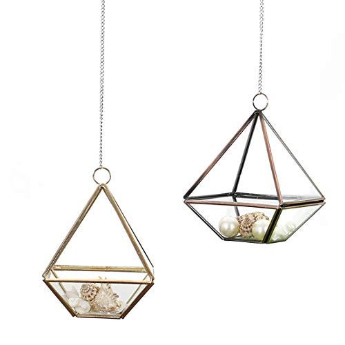 Preisvergleich Produktbild YUMUYMEY Phnom Penh geometrische Glas Blume Haus polygonalen Schmuck Aufbewahrungsbox (Color : Photo Color)