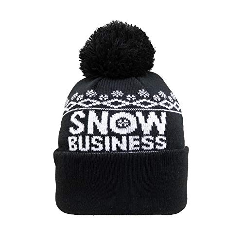 Unfair Athletics Unisex Beanie Snow Business Bobble, Farbe:Black, Größe:one Size