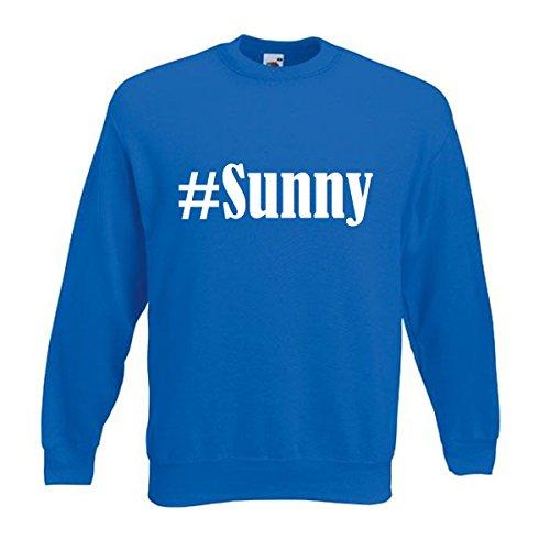 Reifen-Markt Sweatshirt Damen #Sunny Größe XL Farbe Blau Druck Weiss