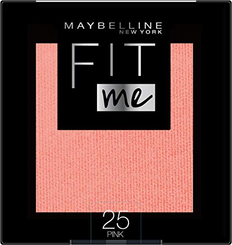 Maybelline New York Fit Me Blush Colorete en Polvo Mate, para Todo Tipo de Pieles, Tono 25 Pink