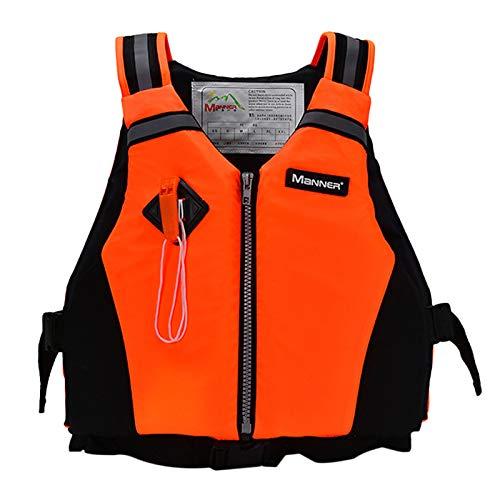 Pulley Traje de Neopreno de Neopreno,Comfort Chaleco Salvavidas,Deportes acuáticos Waterski Jetski Wakeboarding Safety Impact Vest,para Nadar Canotaje Piragüismo, Unisex,Naranja