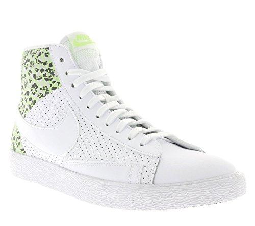 Nike Damen WMNS Blazer MID PRM Fitnessschuhe, Weiß Weiß Weiß Ghst Grn Pr Pltnm, 42 EU