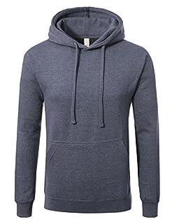 Men's Premium Heavyweight Pullover Hoodie Sweatshirt XL Heather Navy (B075H2N4FH) | Amazon price tracker / tracking, Amazon price history charts, Amazon price watches, Amazon price drop alerts