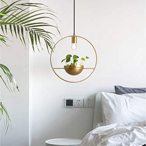 Guldrund grön växtkrona, retro industriell smidesjärns taklampa taklampa för köksö restaurang café bardisk d