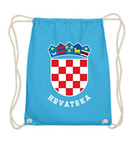 ALBASPIRIT Kroatisches Wappen Hrvatska T-Shirt Kroatien Trikot Geschenk - Baumwoll Gymsac
