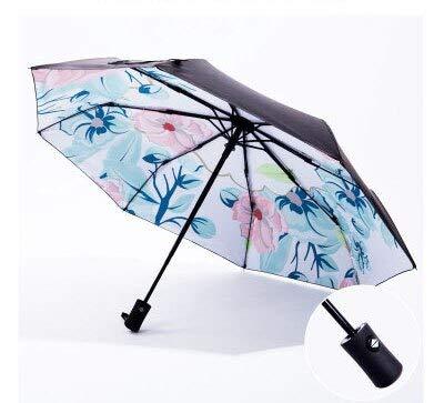 ZGMMM Regenschirme Regen Frauen Sunny and Rainy Umbrellas Flower Black Umbrella Für Lady Anti-UV-SonnenschutzF-Stil