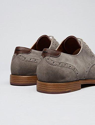 FIND Derby Schuhe mit Brogue-Design, Grau - 5
